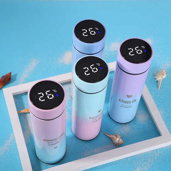500ML Smart Thermos Water Bottle Led Digital Temperature Display