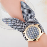Ladies cloth wrist watch gold fashion women dress watch