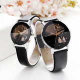 Hot Fashion Lovers Watches Men Women Casual Leather Strap Quartz Watch
