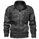 Men High Quality Classic  Jacket Male Plus faux leather jacket