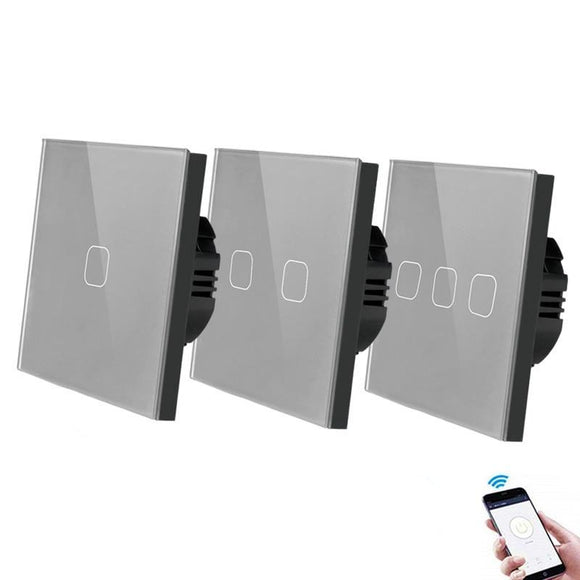 EU Standard 1/2/3 Gang Smart  Wall  Wireless Touch Light Switch