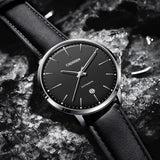 Automatic Mechanical  Leather Casual Business Retro Wrist watch