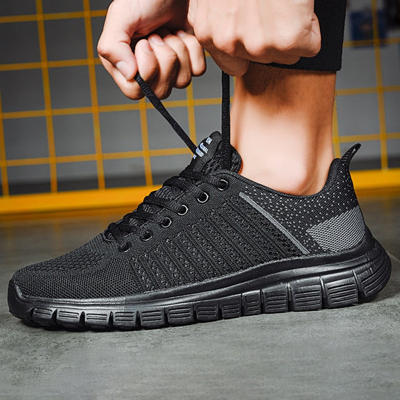 Men Casual Shoes Lac-up Lightweight Comfortable Breathable Walking Sneakers