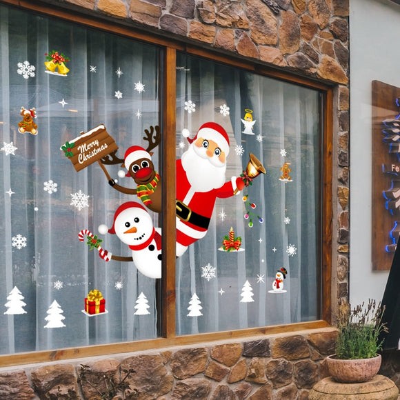Merry Christmas Decoration for Home 2020 Window Sticker Ornaments