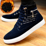 Ankle boots men snow boots winter warm Lace-up men shoes