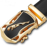 Male Designer Automatic Buckle Cowhide Leather men belt