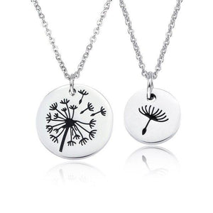 Dandelion  Women Mother & Daughter Pendant Necklace