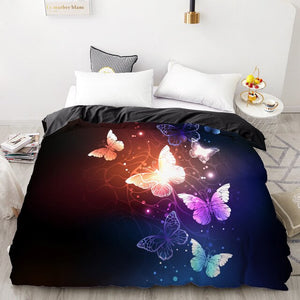 3D Duvet Quilt Cover Set Bedding Set  Bed Linens Pillowcase