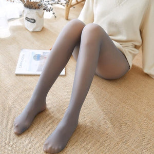 Winter Warm Women Super Elastic Black Slim Pantyhose