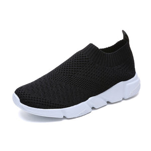 Breathable Mesh Platform Sneakers Women Slip on Soft Ladies Casual Running Shoes