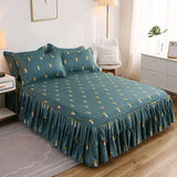 Bed Sheet+ 2pcs Pillow covers Bedspread Bed Skirt Thickened Sheet