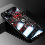 Tempered Glass XS XR Protective Phone Cover For iPhone 12 Pro Max mini Cases
