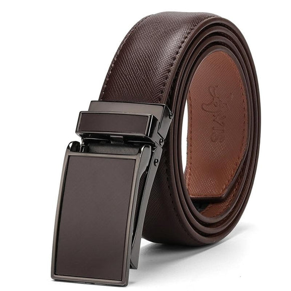 Genuine Leather Strap Automatic Buckle Belt For Men