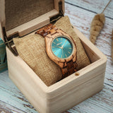 Women Fashion Wood Watch Quartz Ladies  Wooden Watch