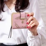 Women Fashion Female Short PU Leather Purses Card Holder  Wallet