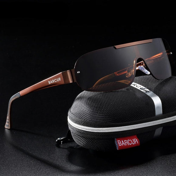 Aluminum Magnesium Men's Pilot Driving Narrow Polarized Sunglasses