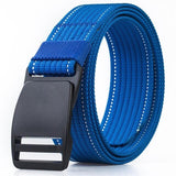 Unisex No Metal Plastic Steel POM Buckle  Quality Canvas Elastic Belt