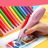 Electric Washable Watercolor Spray Pen Sprayer Airbrush