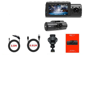 4K Car Video Recorder 3 in 1   GPS DVR Dashcam Rear View Camera