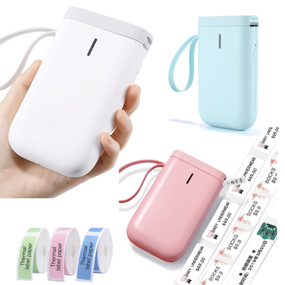 Wireless Bluetooth   Pocket Portable  Thermal Label Printer