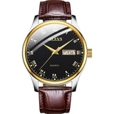 Classic Quartz Waterproof Leather Strap Business Casual Men Watch
