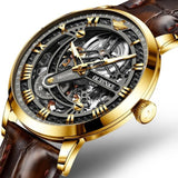 Automatic Classic Skeleton Sapphire  Men's Mechanical Wrist watch