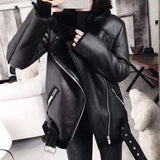 Winter Coats Women Thick Faux Leather  Female  Jacket