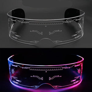 Vintage Punk Goggles Men Women LED Luminous Sunglasses