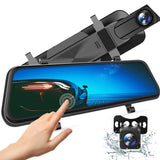 Full Touch Screen Waterproof Backup Parking Monitor Dash Camera