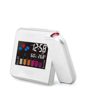 Projection Alarm Clock  with Temperature Thermometer Humidity