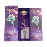 Gold Foil Rose Flower Gift Box Valentines Day Gifts