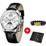 Men Mechanical Automatic Watch Leather Sapphire Wristwatch