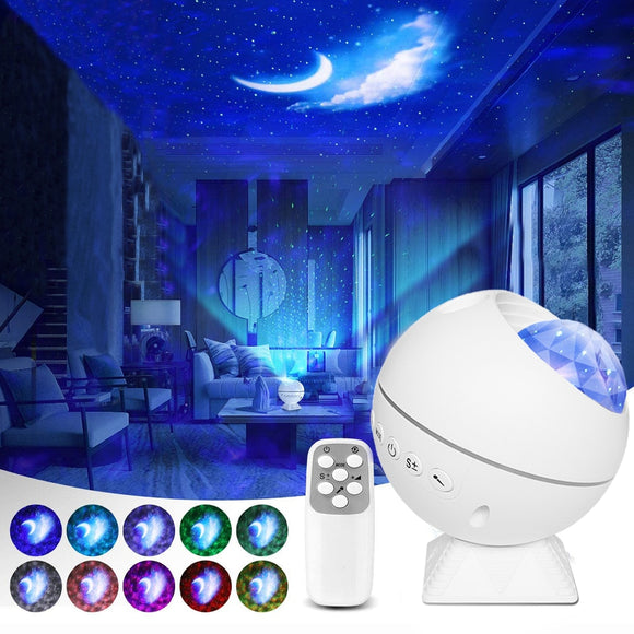 Star Projector Galaxy Lamp Starry Laser USB LED Night Light Moon Lamp