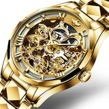 Tungsten steel Chronograph  Automatic men mechanical watch