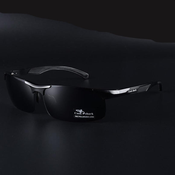 Day and night dual-use men's color-changing polarized sunglasses