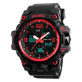 Fashion Men Sports Watches Men Quartz Analog LED Digital Clock Man Military Waterproof Watch  1155B