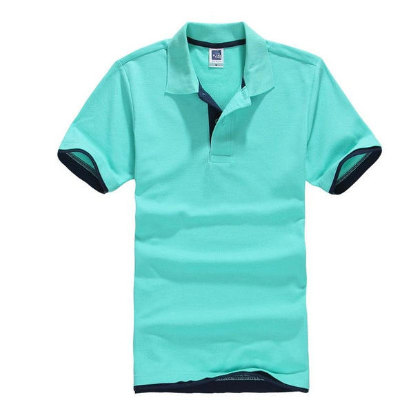 Plus Size XS-3XL Men's Polo  Cotton Short Sleeve T shirt