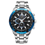 quartz Top Brand Analog  Waterproof men's watch