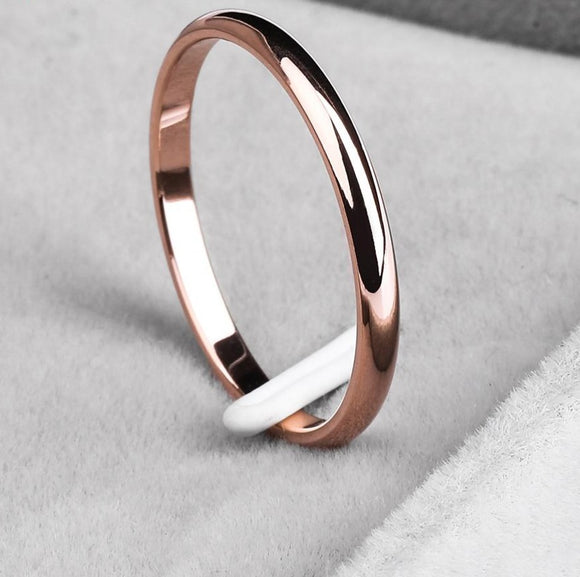 Anti-allergy Smooth Couples Rings  for Man or Woman