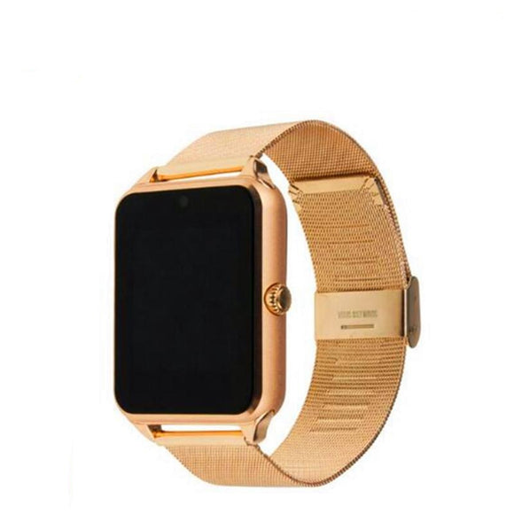 696 GT08 Plus Metal Strap Bluetooth  Support Sim TF Card Android & IOS Multi-languages smart watch