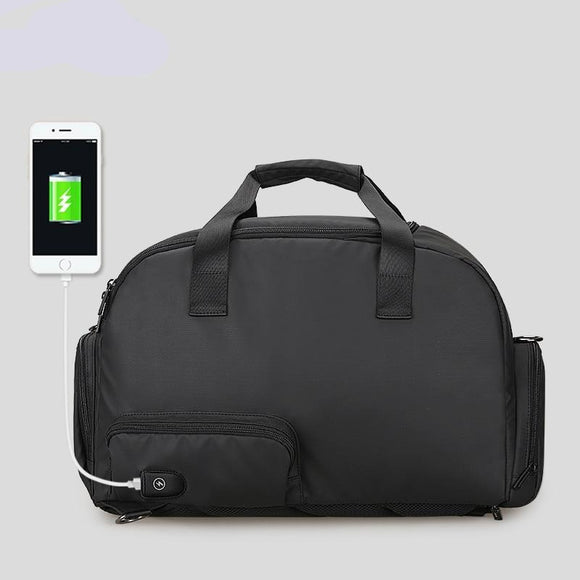 Large Capacity Waterproof Men Business Multifunctional USB Recharging Bag