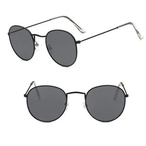 Luxury Mirror  Women/Men Round Sunglasses
