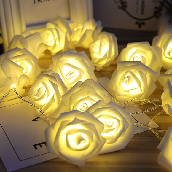 Battery Operated LED Rose Flower  Lights For Valentine