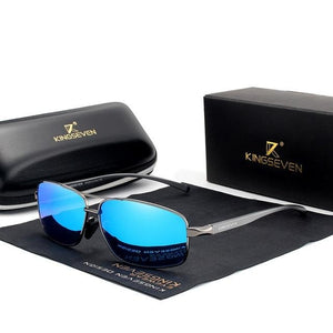 KINGSEVEN Vintage  Design Polarized Sunglasses Square Classic Men Shades