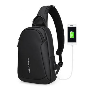 Mark Ryden Multi-function Cross-body  Waterproof USB Charging  Messengers Chest Bag