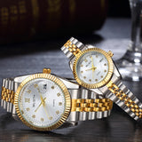 Quartz Fashion Casual lovers men women couple Watch