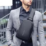 Multi-function Cross-body  Waterproof USB Charging  Messengers Chest Bag
