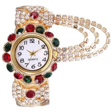 Luxury Rhinestone Bracelet Ladies Wristwatch