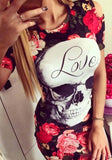 Tank Dress Slim Casual O-Neck Print design women's dress