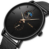 Luxury Quartz Watch Men Casual Slim Mesh Steel Waterproof Sports Watch
